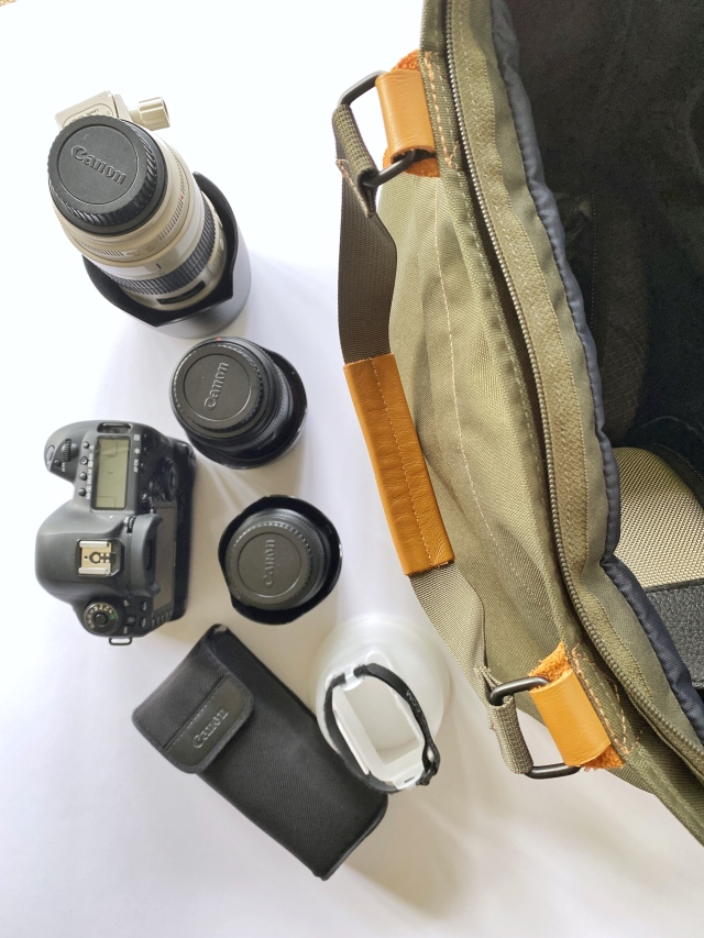 highlight the gear that goes into a small kit for brand photography